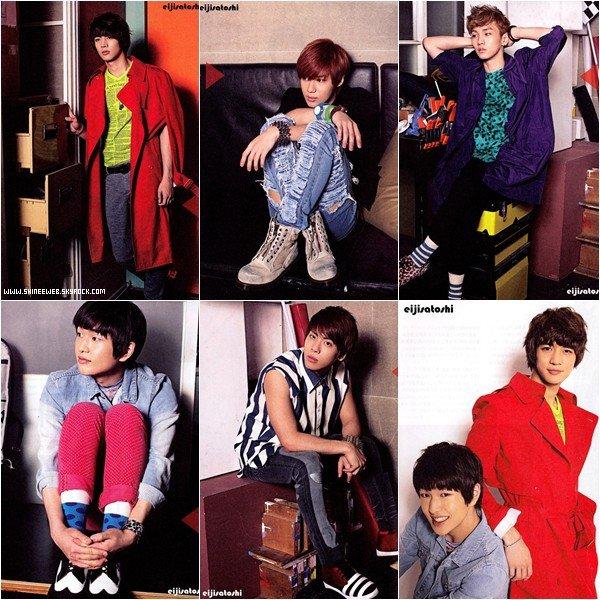. 15 juin 2011 | Découvrez quelques scans des garçons pour le magazine B-PASS. Coup de coeur pour la photo de TaeMin et celle d'Onew ♥ .