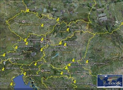 STATIONS CONFIRMES AVEC L'EST DE L'EUROPE