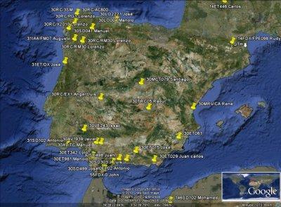 STATIONS CONFIRMES AVEC L'ESPAGNE