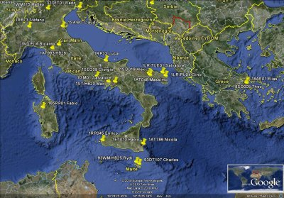 CONFIRMATIONS AVEC LES STATIONS D'ITALIE ET SUD DE L'EUROPE