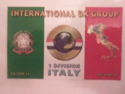 CONFIRMATION QSL AVEC L'ITALIE (1TDT003 COSIMO)