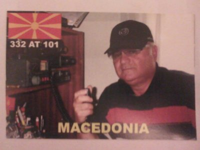CONFIRMATION QSL AVEC LA MACEDOINE (332AT101 STATI)