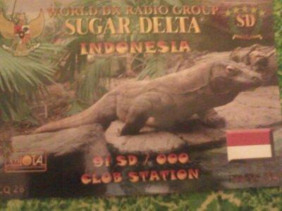CONFIRMATION QSL AVEC L'INDONESIE (91SD000)