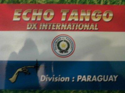 CONFIRMATION QSL AVEC LA DIVISION 67 (LE PARAGUAY)