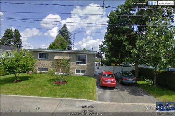 Petite photo du QTH de 88QUEBEC QUEBEC Francis que j'ai contacté le 05 Nov.2012 (CANADA-Drummonville)