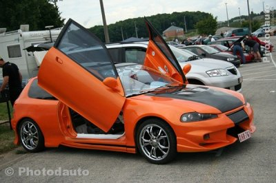 voiture tuning orange