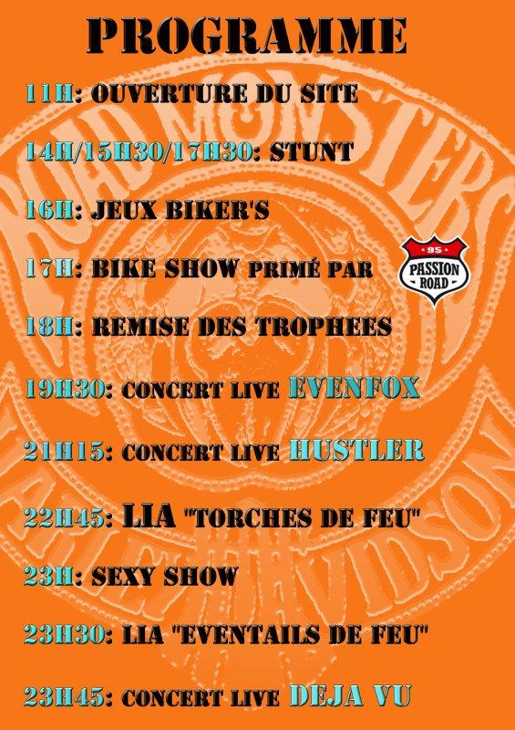 soirée chez les road monsters.music and bike,content de jouer pour eux.le 25 et 26 juin 2011