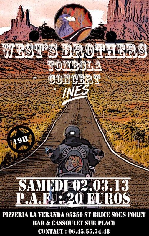 soirée west's brothers du 02 03 2013,a reserver,places limitées.