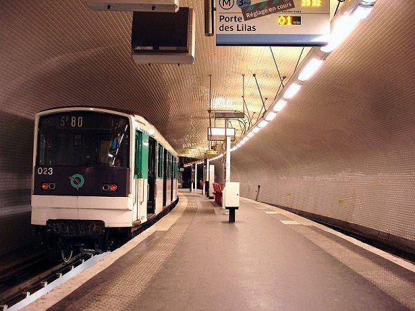 métro ligne 3bis RATP
