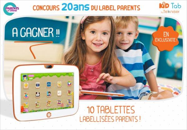 concours kidtab , reponse 1 : 3-9 ans  reponse 2 : orange reponse 3 : 12  reponse 4 : Gérer et suivre son temps d'utilisation de la tablette