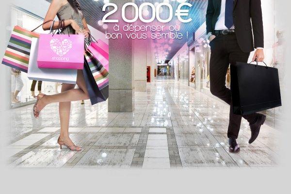 2000 euros de cadeaux a depenser