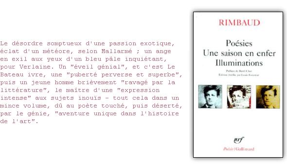 Illuminations Une Saison En Enfer Poésies Livres En Français