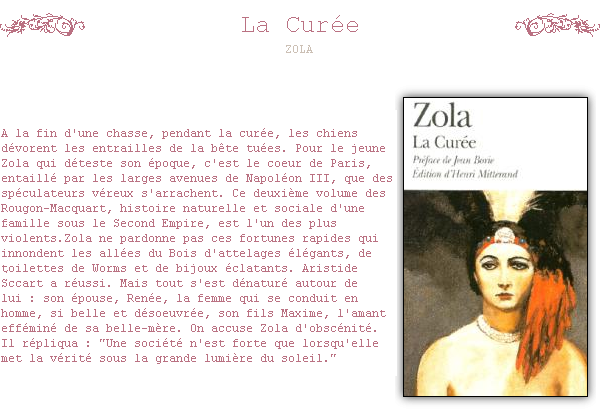 ~ La CUREE La ville n'était plus qu'une grande débauche de millions et de femmes. .  ZOLA