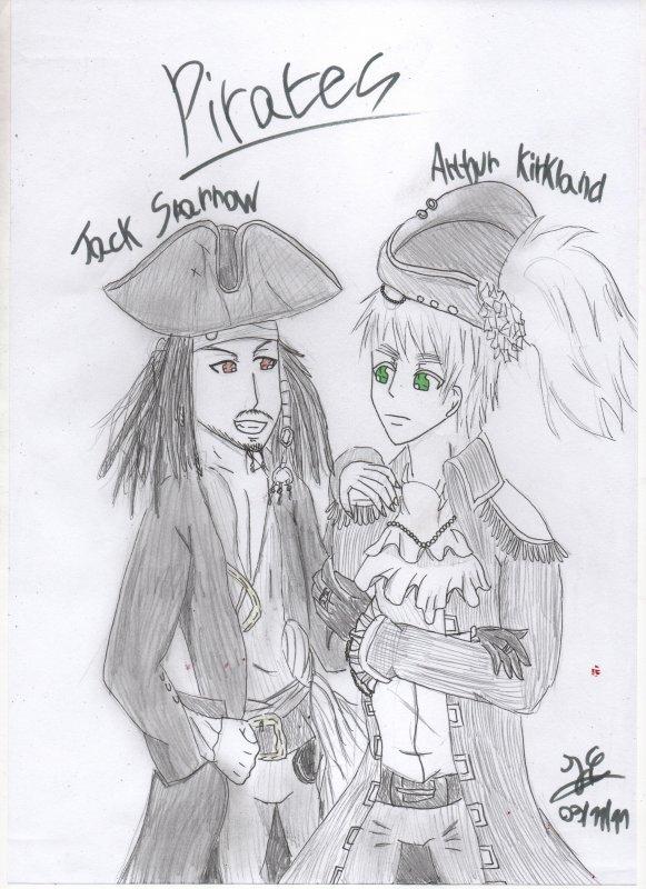 Arthur Kirkland et Jack Sparrow deux grand pirates! (by ju')