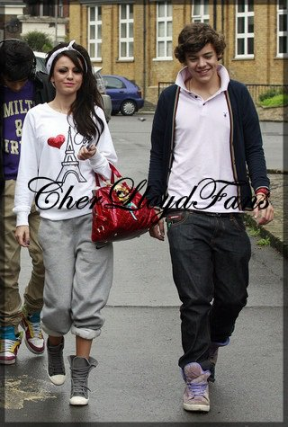 "Cher Lloyd et Harry Styles des ""One Direction"""
