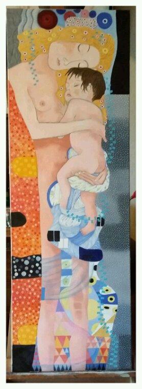 D après Gustav Klimt huile sur toile