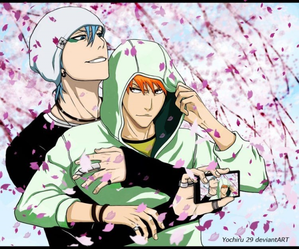Grimjow and Ichigo .. muy sexy !! <3