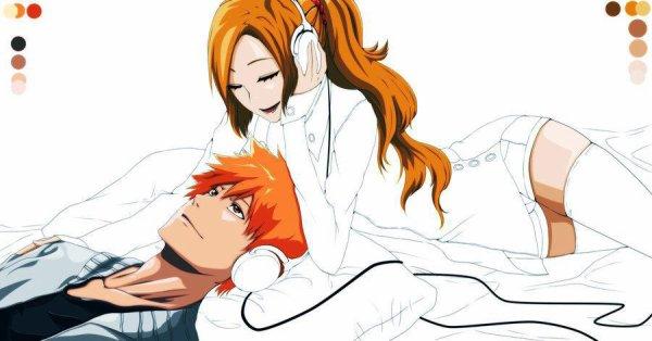 Ichigo et Orihime love !! <3