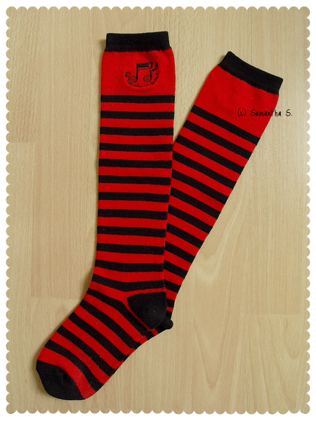 Musical Stripes (red/black)