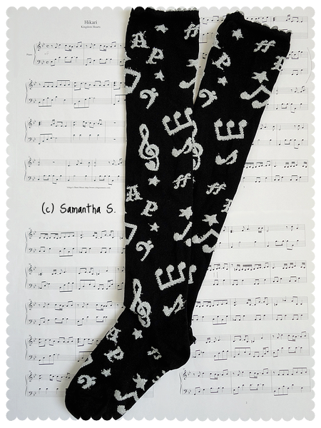 Fancy Melody socks (black x silver)