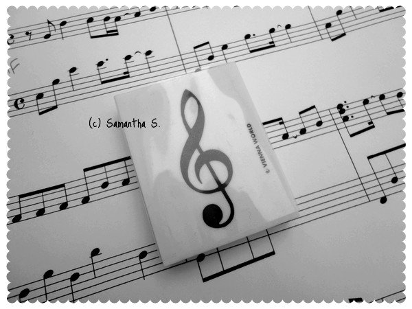 G-Clef Rubber (white)