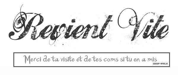 A Bientot sur Gossip-Amelie