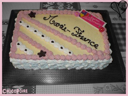 ☆ Entremet Crème Mousseline-Griottes ☆