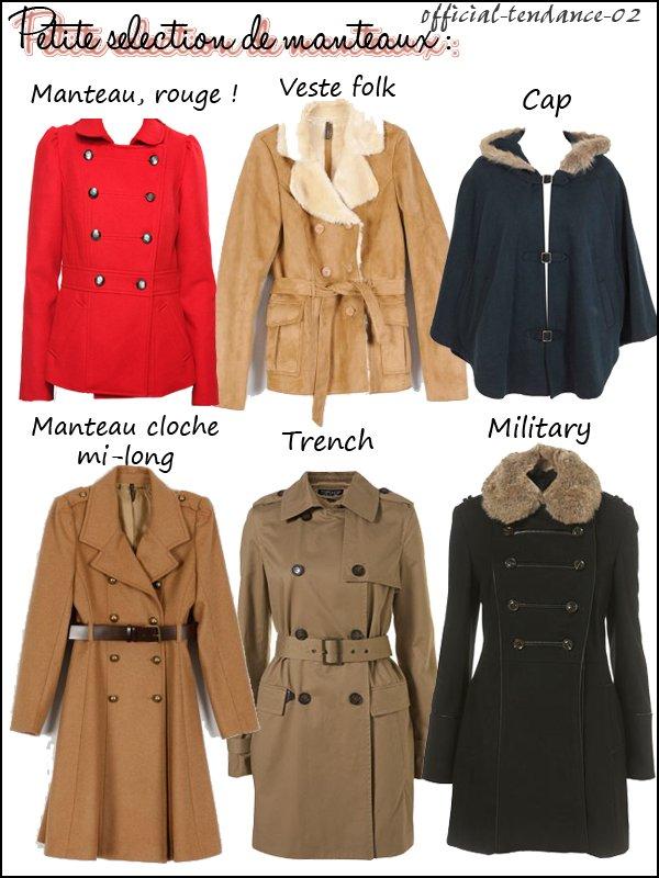 Mode : Selection manteaux