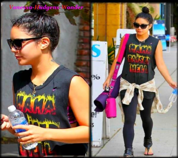 Look de Vanessa Hudgens : Rock'n'roll lors de son cours de Yoga ( 25/08/2012)