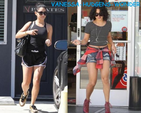 Look de Vanessa Hudgens : Short en jean ou short de sport?