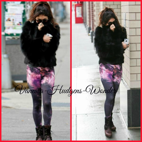 Vanessa Hudgens en leggings à motif galaxy le 3 décembre