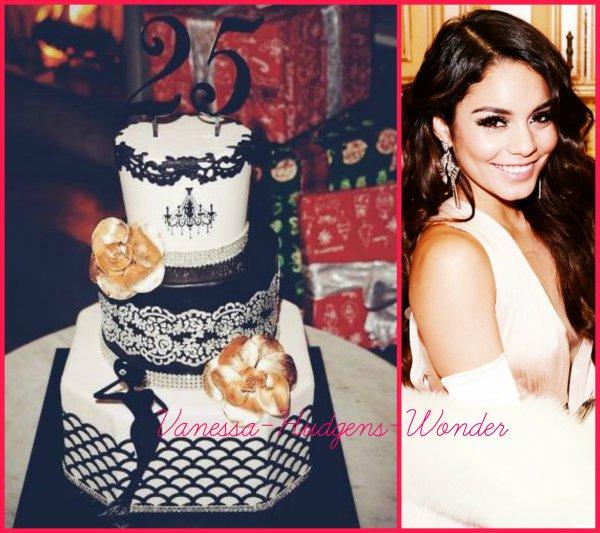 Vanessa Hudgens avec Austin, glamour pour ses 25 ans le 14 décembre