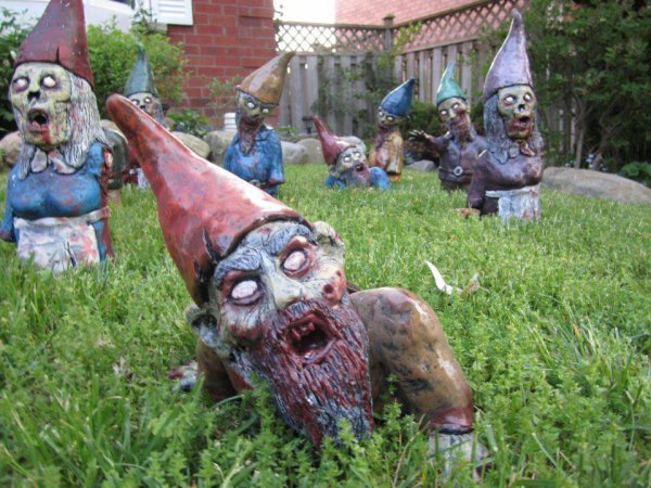nains de jardin atention sa mort