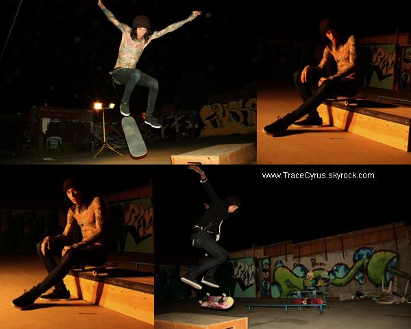 . Trace en pleine session de skate..