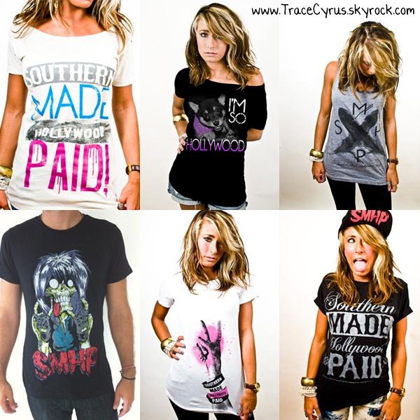 . Voici des tee-shirt de la collection de Trace, Southern Made Hollywood Paid. En achèterais-tu ?.