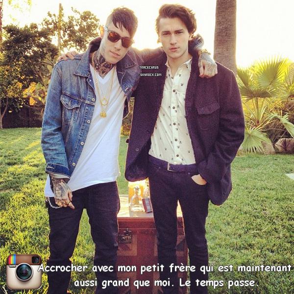 . Trace c'est coupé les cheveux , vous en pensez quoi ? + Il a posté une photo de lui et Braison ♥ .