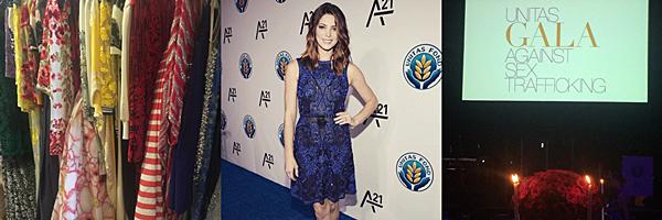 .  15.09.2015 |  Ashley au premier gala d'UNITA contre le trafic humain à New York City.  + Découvrez le discours et des interviews de la belle en lien dans l'article. Elle est vraiment chou et superbe dans cette robe et ce maquillage. Le bleu est une couleur qui lui va vraiment bien ! Qu'en dites-vous ?  .