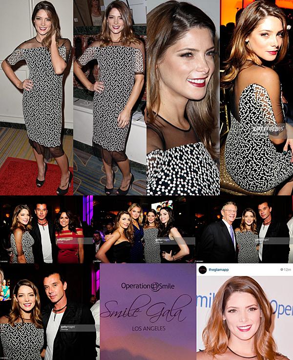 .  02.10.2015 |  Ashley à la soirée Operation Smile à Beverly Hills afin de récolter des fonds et soutenir leur cause.  + C'est à la dernière minute qu'elle nous l'a appris via insta. C'était l'occasion pour elle de papoter avec d'autres que son cercle d'amies.  .