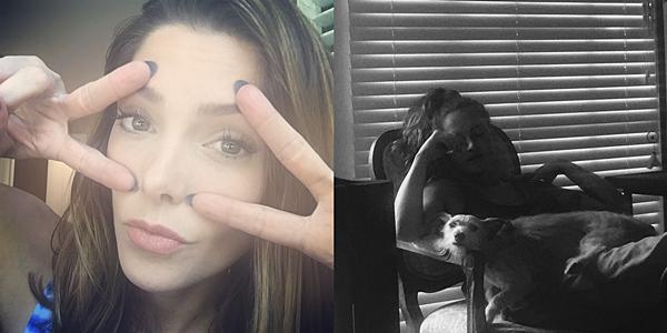 .  09 & 10.10.2015    Ashley a partagé avec nous deux photos via Instagram une d'elle et l'autre de sa belle-soeur.  + La belle nous montre encore sa grande générosité avec le premier cliché puisqu'elle y soutient une association pour que tout le monde puisse accéder aux lunettes de vues car rappelons-le en Amérique, il n'y a pas de sécurité sociale. C'est chacun pour soi en fonction de ses moyens.  .
