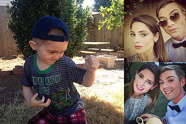 .  11.10.2015 |  Ashley a partagé une photo de son filleul Nico et d'elle et son ami Joseph au mariage d'amis.  + Apparemment, elle et Joseph Chase aurait passé le weekend au mariage de leurs amis. Ashley a des yeux sublimes..  .