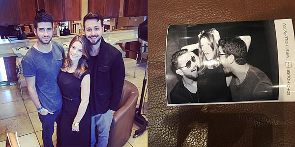 .  22.10.2015 |  Ashley a partagé deux photos d'elle, Paul son petit-ami, et Ryan, un ami du couple.  + La belle est allée à une soirée à Soho House (photo de droite) alors avant, elle s'est rendue au coiffeur de son ami Joseph Chase (gauche).  .