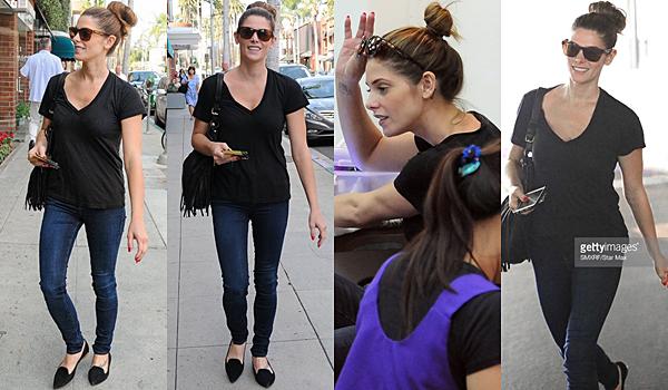 .  23.10.2015 |  Ashley s'est rendue à son salon de manucure préféré à Los Angeles !  + C'est avec un grand sourire que miss Greene s'est montrée. Elle portait une tenue très simple mais qui lui va très bien.  .