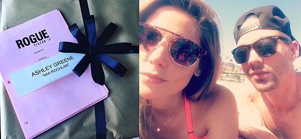 .  25 & 26.07.2016 |  Découvrez deux nouvelles photos d'Ashley sur son compte Instagram ! En ce 25 juillet, Ashley inaugure officiellement le début du tournage de la saison 4 de la série Rogue à Vancouver. Ça fait déjà quelques jours qu'elle est sur place et doit apprendre ses textes. Le lendemain, elle a posté une photo datant certainement du 20.06 dernier à la plage en Californie avec son meilleur ami Joseph Chase. La belle doit être nostalgique si elle se retrouve seule après le départ de son amie et sa belle-s½ur, Olivia.   .
