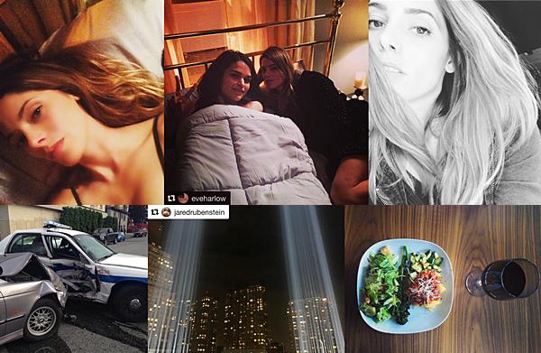 .  08 / 10 & 11.09.2016    Ashley de retour sur le tournage de Rogue, à Vancouver. Ashley est de retour au travail pour le tournage de Rogue. Elle a donc posté deux photos sur son compte Instagram d'elle en pleine scène dans un lit avec sa co-star Eve Harlow, le 08 septembre. Le 10, elle était encore en tournage, cette fois à l'extérieur pour une scène d'accrochage de voitures. Elle a également posté deux photos. Le 11 septembre, elle a posté une photo en mémoire aux victimes du 11 septembre.. Et le soir, elle est sortie dîner à Vancouver avec son chéri, Paul. Ça fait plaisir de la revoir présente sur son compte Instagram. Dommage, qu'elle ait oublié son compte Snapchat ;)   .