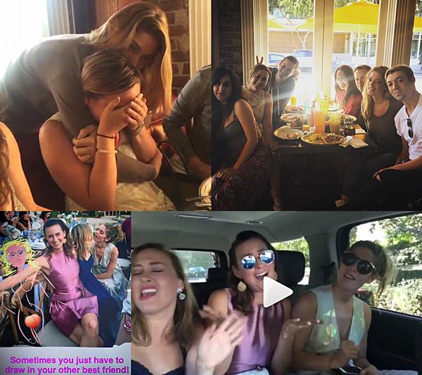 .  17.09.2016 |  Ashley au mariage de son amie Melanie à Los Angeles ! Pour l'occasion du mariage d'une de ses amies, Ashley a retrouvé sa meilleure amie Caitie ! Les deux amies semblent toujours s'entendre aussi bien malgré la distance. Découvrez donc les photos et la vidéo postés sur Instagram par son amie Rhiannon ;)   .