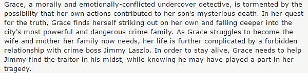 .  2015 |  Ashley a un nouveau projet de série : Rogue ! C'est en cours de route que miss Greene va prendre le chemin d'une série nommée Rogue pour jouer un personnage nommé Mia Rochlan à partir de la saison 3. Elle va être porté disparu et sera recherché par Ethan Kelly (Cole Hauser). Il sera alors attiré dans les mondes dangereux de la mafia russe et l'espionnage du gouvernement pour la trouver. Mais quand il le fait, les choses commencent à se compliquer. Mia Rochlan est-elle la victime qu'elle prétend être ou est-elle une femme fatale manipulatrice qui ne s'arrêtera à rien pour obtenir ce qu'elle veut? Pour ce qui est du synopsis de la saison une sans la belle, c'est l'histoire d'une femme flic qui enquête sur la mort de son fils. Infiltrée, elle va alors se rendre compte que vie professionnelle et vie privée sont étroitement liées dans cette affaire et elle va devoir faire affaire avec un grand criminel Jimmy Laszlo. C'est une série d'action, de drame, de crime et thriller. Comptez-vous voir cette série ? :)   .