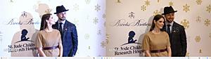 .  03.12.2016 |  Ashley à la fête Brooks Brothers pour célébrer les recherches de l'hôpital St Jude pour enfants ! La miss est donc de retour aux Etats-Unis puisque la soirée dédiée aux enfants étaient à Beverly Hills, en Californie. La belle était accompagnée de son chéri Paul et avait enlevé ses mèches violettes et blanches. Nous ne savons pas si elle est rentrée définitivement ou si elle retournera auprès de sa meilleure amie Caitie pour continuer le tournage d'Accident Man. En attendant, je vous propose de regarder les images et surtout les deux interviews que je vous ai trouvé ! Vous avez juste à cliquer sur les deux dernières images pour les avoir. Sinon, je ne sais pas pour vous, mais pour moi, Ashley a un magnifique top avec ce tissu qui fait vraiment Noël. J'adore la voir avec les cheveux foncés et son maquillage est juste parfait pour elle ! :D  .