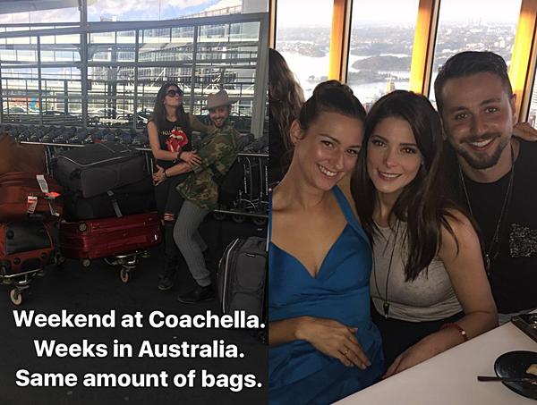 .  17.12.2016 |  Ashley et ses amies sont arrivés en Australie pour le festival Coachella ! Heureusement que Rhiannon est là pour nous faire partager quelques moments de leur road trip. C'est donc par sa Story Instagram que nous avons des nouvelles de la belle. Nous pouvons voir les deux tourtereaux bien s'amuser à l'aéroport devant tous leurs bagages et une seconde photo avec une Ashley plus jolie que jamais ! Le même-jour, une énorme surprise est apparut puisque miss Greene a fait une apparition dans la série télévisée Hells Kitchen avec Gordon Ramsey ! Elle était encore blonde durant le tournage et sa robe bleue la met carrément en valeur ! Je vous laisse regarder la vidéo pour voir la réaction de la belle durant son dîner.. ;)   .