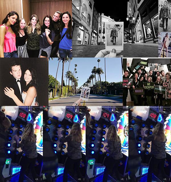 .  11 & 12.02.2017 |  Découvrez pleins de nouvelles photos d'Ashley postés sur les réseaux sociaux ! Les deux premières photos ont été posté le 11 février par son amie Rhiannon et son chéri Paul. Sur la première, la belle est avec ses amies au Dave & Buster's, à Hollywood. C'est un endroit rempli de jeu. Sur la seconde, Paul et Ashley étaient à Santa Monica au Rodeo Drive pour faire du shopping. Le lendemain, un vieil ami de la miss s'est soudainement souvenu de son existence en postant une très vieille photo de lui et elle lorsqu'ils étaient au lycée probablement. Dans la même journée, c'est ensuite Paul qui a posté une photo tout comme la veille, mais cette fois ils étaient à Beverly Hills 902010. Enfin, c'est une vieille photo posté sur le compte fan d'une autre célébrité qui a été posté sans réelle date mais on peut supposer que ça date d'un ou deux ans. Pour finir, découvrez des captures d'écran provenant de la Story Instagram de Rhiannon et datant de la veille durant leur sortie entre amis au Dave & Buster's :)   .
