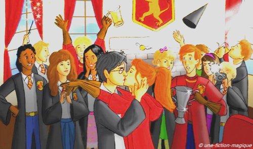 """""""Au vu de tout le monde, Ron avait enlacé Lavande Brown si étroitement qu'on n'arrivait plus très bien à distinguer leurs mains les unes des autres""""Harry Potter et le Prince de Sang-Mêlé."""